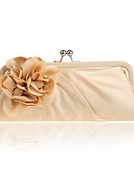 L.west Women Elegant High-grade Silks And Satins Flower Evening Bag