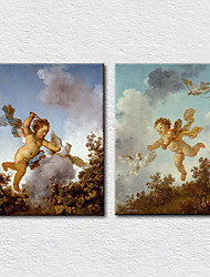Canvas Set Classical little angels Two Panels Canvas Vertical Print Wall Decor For Home Decoration