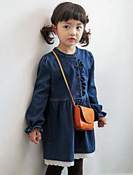 Girl's Casual/Daily Patchwork Dress / JeansRayon Spring / Fall Blue