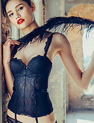 BOTHYOUNG Polyester Bustier Sous Poitrine Noir-16S501