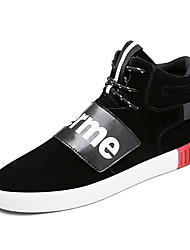 Men's Sneakers Spring Summer Fall Comfort Customized Materials Outdoor Casual Athletic Flat Heel Lace-up Black Gray