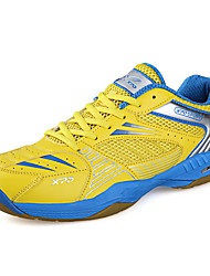 Men's Athletic Shoes Fall Comfort Leather Outdoor Platform Lace-up Yellow Red Badminton Tennis