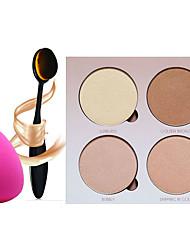 4 Paleta de Sombras Secos Paleta da sombra Pó Normal Maquiagem para o Dia A Dia