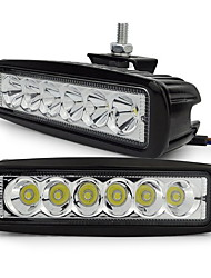 exled di 18W LED bianco 6500K 1800LM luce auto impermeabile - nero (2 pezzi)