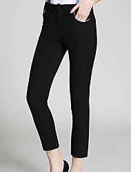 burdully solide noir / marron chinos pantssimple femmes