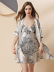 Girl & Nice® Femme Soie Robes de Chambre-P8666