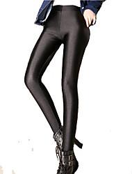 Women Solid Color Legging,Nylon