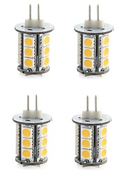 4W G4 LED à Double Broches T 18 SMD 5050 300-400 lm Blanc Chaud / Blanc Froid Décorative DC 12 V 4 pièces