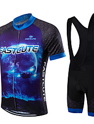 Fastcute® Fahrradtrikot mit Trägerhosen Herrn / Unisex Kurze Ärmel Fahhrad Atmungsaktiv / Rasche Trocknung / tragbarBib - Shorts/Kurze