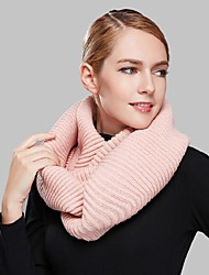 Women Acrylic ScarfCasual Infinity ScarfRed / Black / Green / Brown / Pink / Orange / KhakiSolid