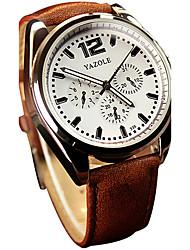 YAZOLE® Men's Quartz Casual Fashion New Watch Simple Business PU Belt Round Alloy Dial Watch Cool Watch Unique Watch