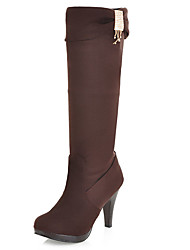 Women's Shoes Stiletto Heel Round Toe Platform Knee HIgh Boot More Color Available