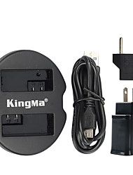 Kingma dual usb lader voor canon batterij en de canon eos 550d eos 600d eos 650d eos 700d met usb-adapter macht