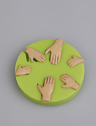 Wholesale cake decorating tools hand shape silicone molds for fondant cake
