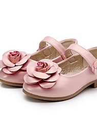 Girl's Flats Spring / Fall Flats PU Casual Flat Heel Flower Pink / Purple / Gold Others