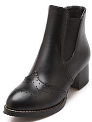 Feminino-Botas-Saltos / Coturno / Inovador / Botas de Cowboy / Botas de Neve / Botas Cano Curto / Arrendondado / Botas Montaria / Botas