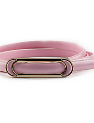 Lady Fashion Belts Leather Material Waistband Metal Belt Buckle
