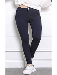 Legging Couleur Pleine Polyester Femme
