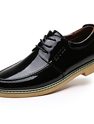 Men's Oxfords  Round Toe / Closed Toe / Flats Casual Flat Heel Lace-up Black / Brown / Red Walking