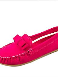 Women's Flats Spring / Fall / Winter Comfort Fleece Outdoor / Casual Flat Heel Bowknot