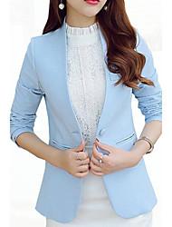 Women's Solid Shrug Slim OL Style Blazer,Simple / Street chic Notch Lapel Long Sleeve