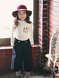 Girl's Going out Solid TeeCotton Spring / Fall Pink / Beige