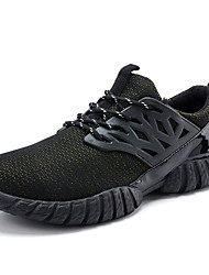 Femme-Sport-Noir / Bleu / Jaune / Rouge-Talon Plat-Confort-Sneakers-Tissu