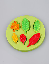 6 Cavity leaf shape sugar mold cupcake baking silicone mold for decoration cake molds