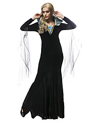 Performance Dresses Women's Performance Polyester / Tulle Pick-Ups 1 Piece Black Performance Long Sleeve Natural Dress