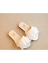 Girl's Slippers & Flip-Flops Summer Slippers PU Casual Flat Heel Flower Blue Pink White Others