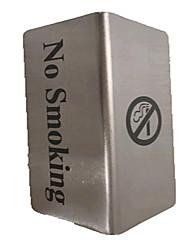 não fume aço inoxidável Taiwan cartão sinais Inglês fumadores de fumar restaurante do hotel etiqueta da marca placa de identificação