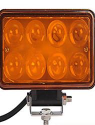 4 auto tourné 24 w leds jaunes 4 d lentille convexe conduit lampe de travail