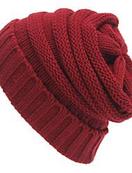 Unisex's Grid Knitting Weave Beanie Cap
