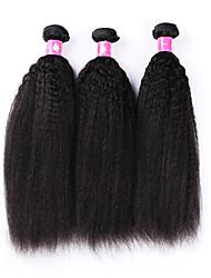 3 Stück Yaki Menschliches Haar Webarten Brasilianisches Haar Menschliches Haar Webarten Yaki