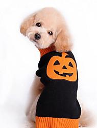 Perro Suéteres Ropa para Perro Bonito Vacaciones Halloween Calabaza Negro