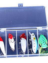 5 Style Ray Frog Bait Soft Wave Pa Minnow VIB Pencil Lures Set 5PC/set
