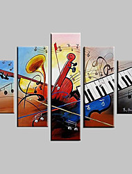 Hand-Painted Abstract / Landscape / Fantasy / Abstract Landscape Five Panels Canvas Oil Painting For Home Decoration