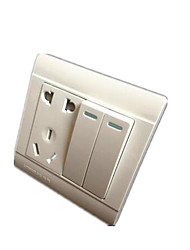 commutateur socket blanc