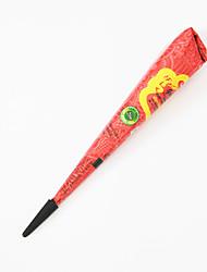 Хэллоуин 1шт красная хна индийская паста Менди конус временный боди-арт краска поделки рисунок натуральный растительный пигмент