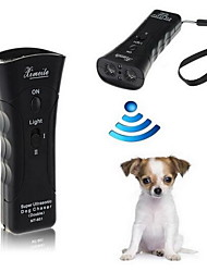 Dog Training Electronic / Ultrasonic / Flashlight Portable / Electric Black Plastic