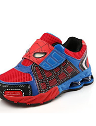 Unisex Sneakers Spring / Fall Comfort PU Casual Flat Heel Magic Tape Blue / Red Others