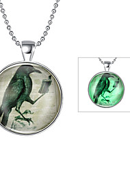Cremation Jewelry Magical Glow in The Dark 925 Sterling Silver Luminous Animal Pendant Necklace