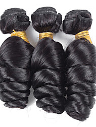 3 Pieces Loose Wave Human Hair Weaves Peruvian Texture Human Hair Weaves Loose Wave