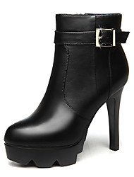 Women's Boots Spring / Fall / Winter Heels / Fashion Boots Fur Office & Career / Party & Evening Stiletto Black /Red