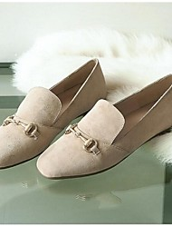 Women's Flats Spring / Summer / Fall Flats Suede Outdoor Flat Heel Others Black / Khaki Others