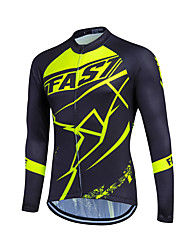 Bike/Cycling Jersey Sports Men's Long Sleeve Breathable / Back Pocket / Sweat-wicking / Lightweight Materials / LYCRA