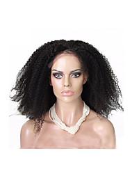 """pleine dentelle perruques afro brazilian crépus bouclés non transformés cheveux humains brazilian 26 """"28"""" couleur naturelle"""