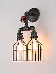 2 heads Loft vintage Wall Lights Industrial Edison Fashion Simplicity Wall Sconce Metal Base Cap