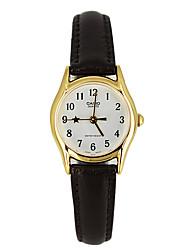 Mulheres Relógio de Moda Quartzo / Couro Banda Casual Luxuoso Preta Preto/Branco