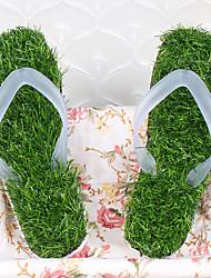 Masculino-Chinelos e flip-flops-Conforto-Rasteiro-Verde-PVC-Casual
